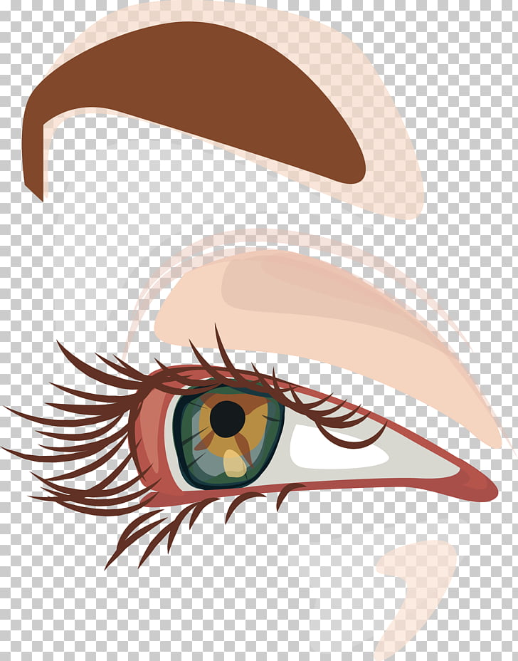 Eye Cartoon, Big eyes with God PNG clipart.