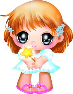 Big eyes girl clipart.