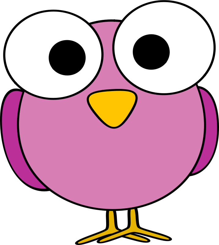Big Eye Bird Clipart.