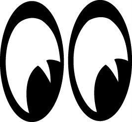Cartoon big eyes clipart.