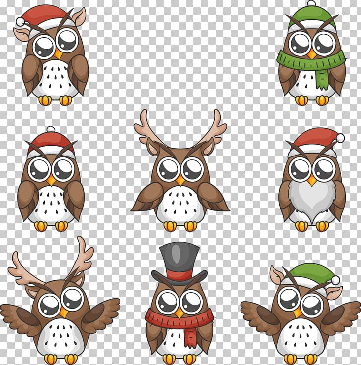 Owl Euclidean Christmas, Lovely big eyes owl festival PNG.