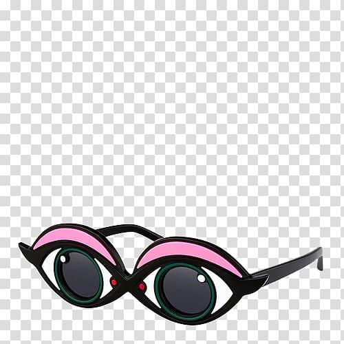 Aviator sunglasses Paris Eye, Big eyes glasses transparent.