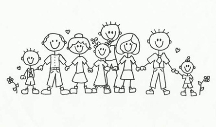 Family Clipart Black And White Free.