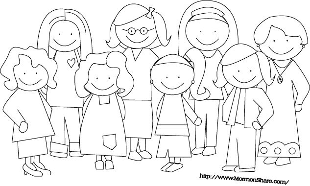 Family Clipart In Black And White.