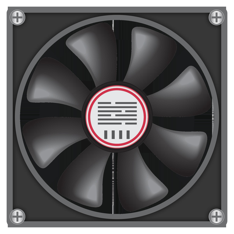 Big Computer Fan PNG Clipart.