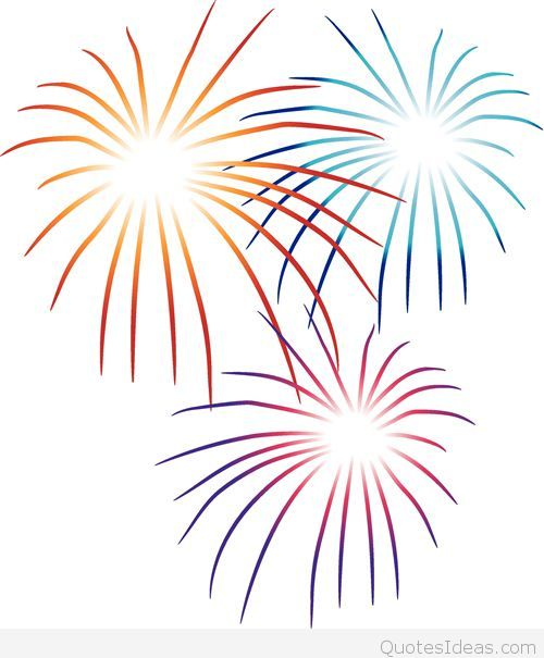 big firework happy new year clipart
