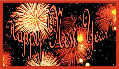 Big Firework Happy New Year Clipart.