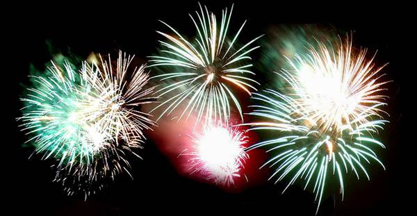 Big Firework Happy New Year Clipart.