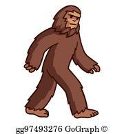Bigfoot Clip Art.