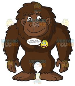A Nice Happy Bigfoot.