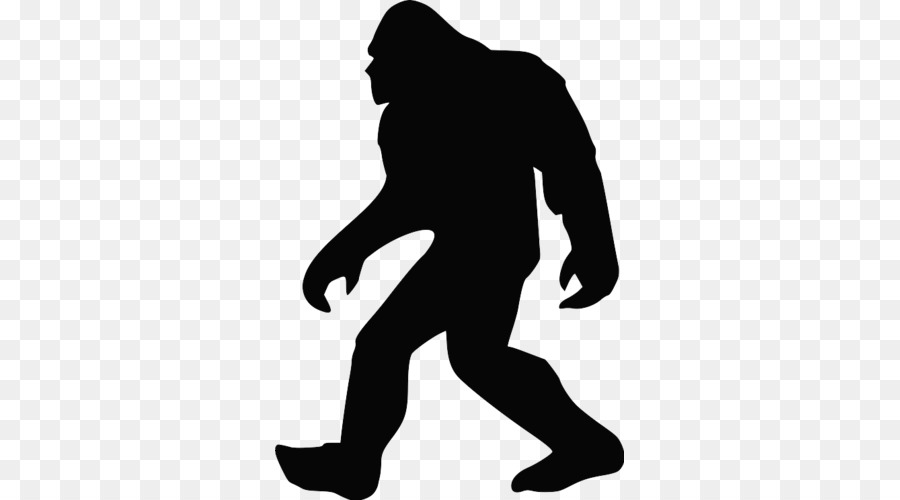 Bigfoot Silhouette Clip art.