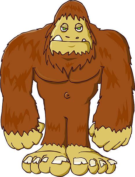 Best Big Foot Monster Illustrations, Royalty.