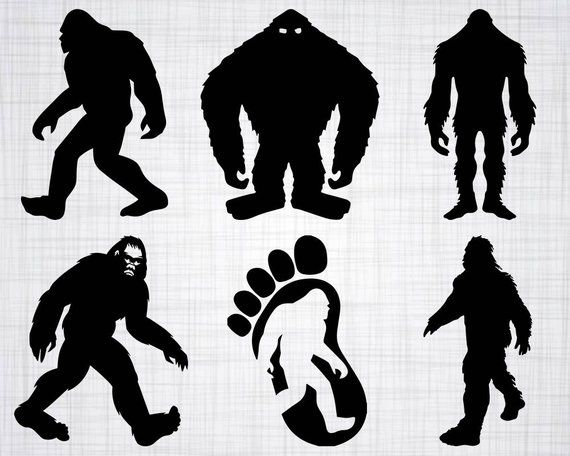 Bigfoot SVG Bundle, Sasquatch SVG, Bigfoot Clipart, Bigfoot Cut.