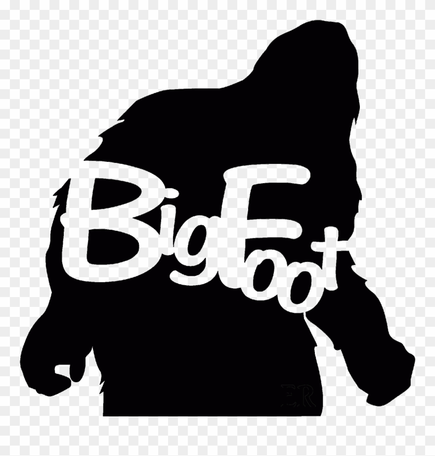 Bigfoot Clipart Footprint Clipart Sasquatch Footprint.