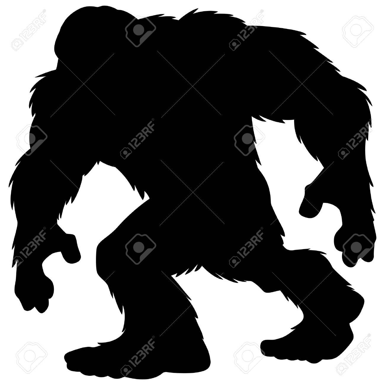 Bigfoot Mascot Silhouette.