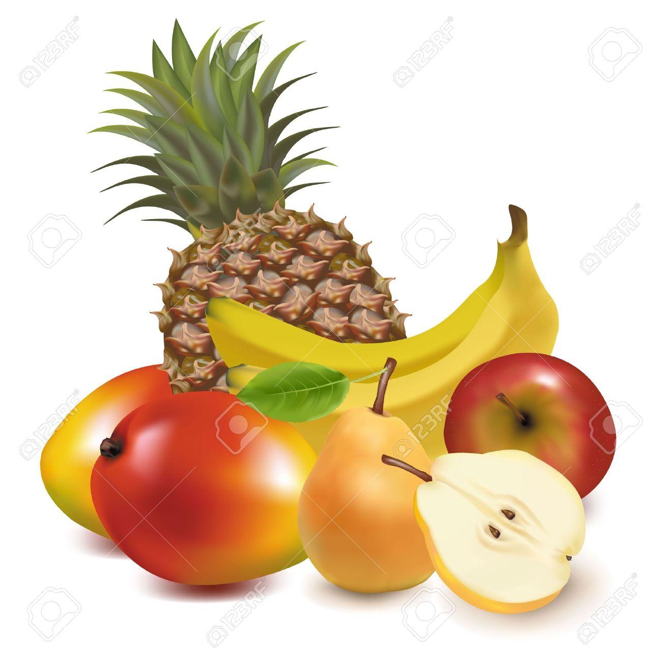 Tropical fruit clipart.