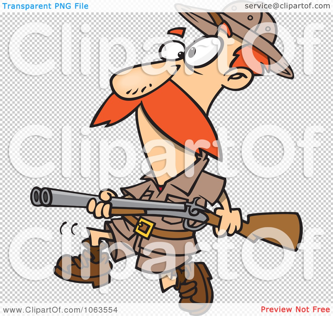 Clipart Big Game Hunter With A Rifle.