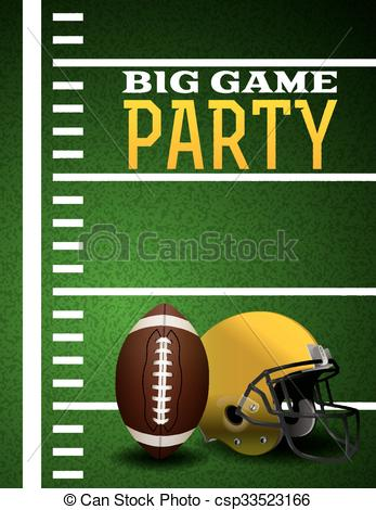Football the big game clipart.