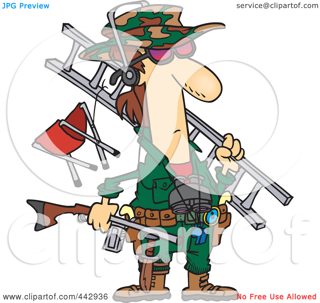 Big game hunting clipart.