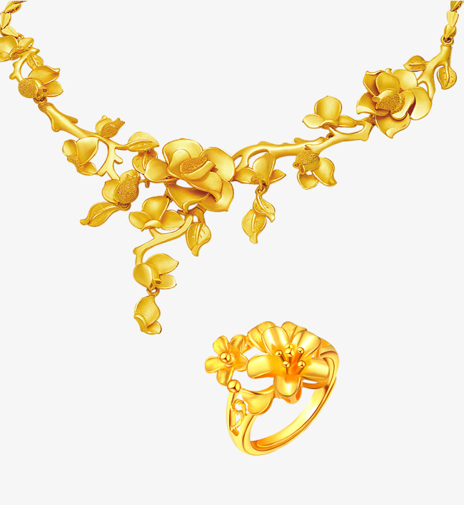 Gold Chain Necklace Clipart.
