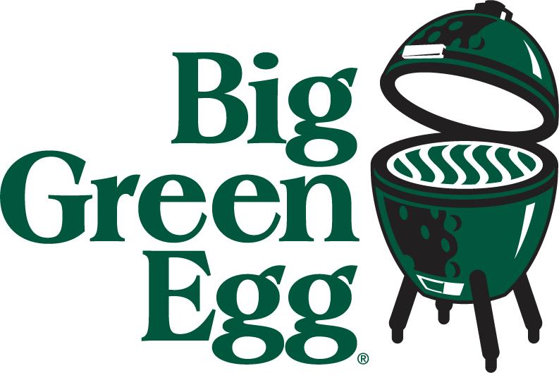 Big Green Egg BBQ grill smoker.