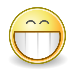 Big Grin Happy Face Clip Art.