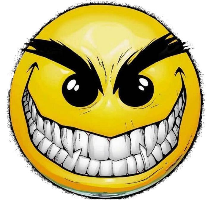 Pix For Evil Grin Text Emoticon.