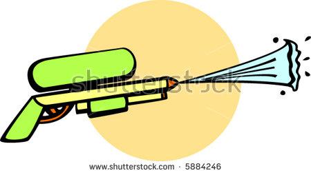 Big Water Gun Stock Vector Illustration 5884246 : Shutterstock.