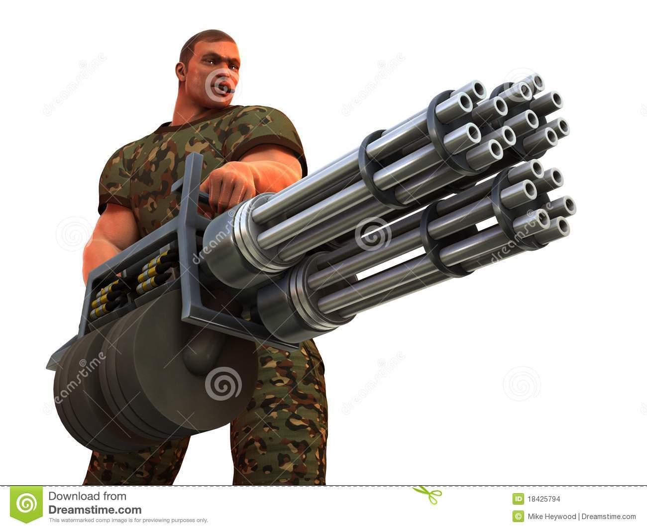 Big guns clipart.