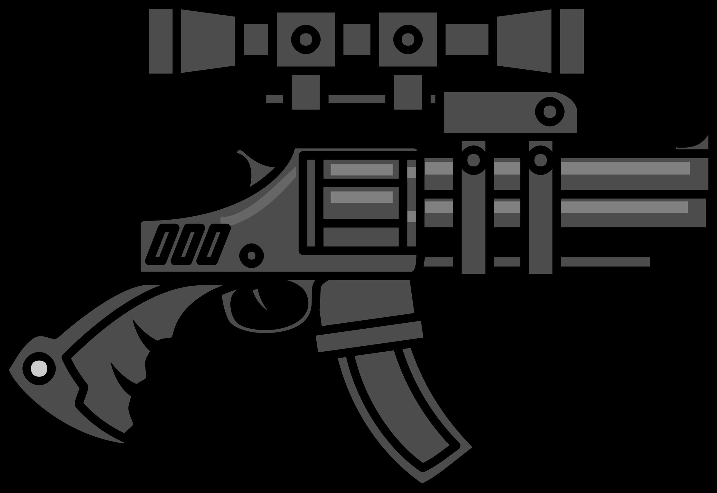 Big Gun with Scope vector clipart.