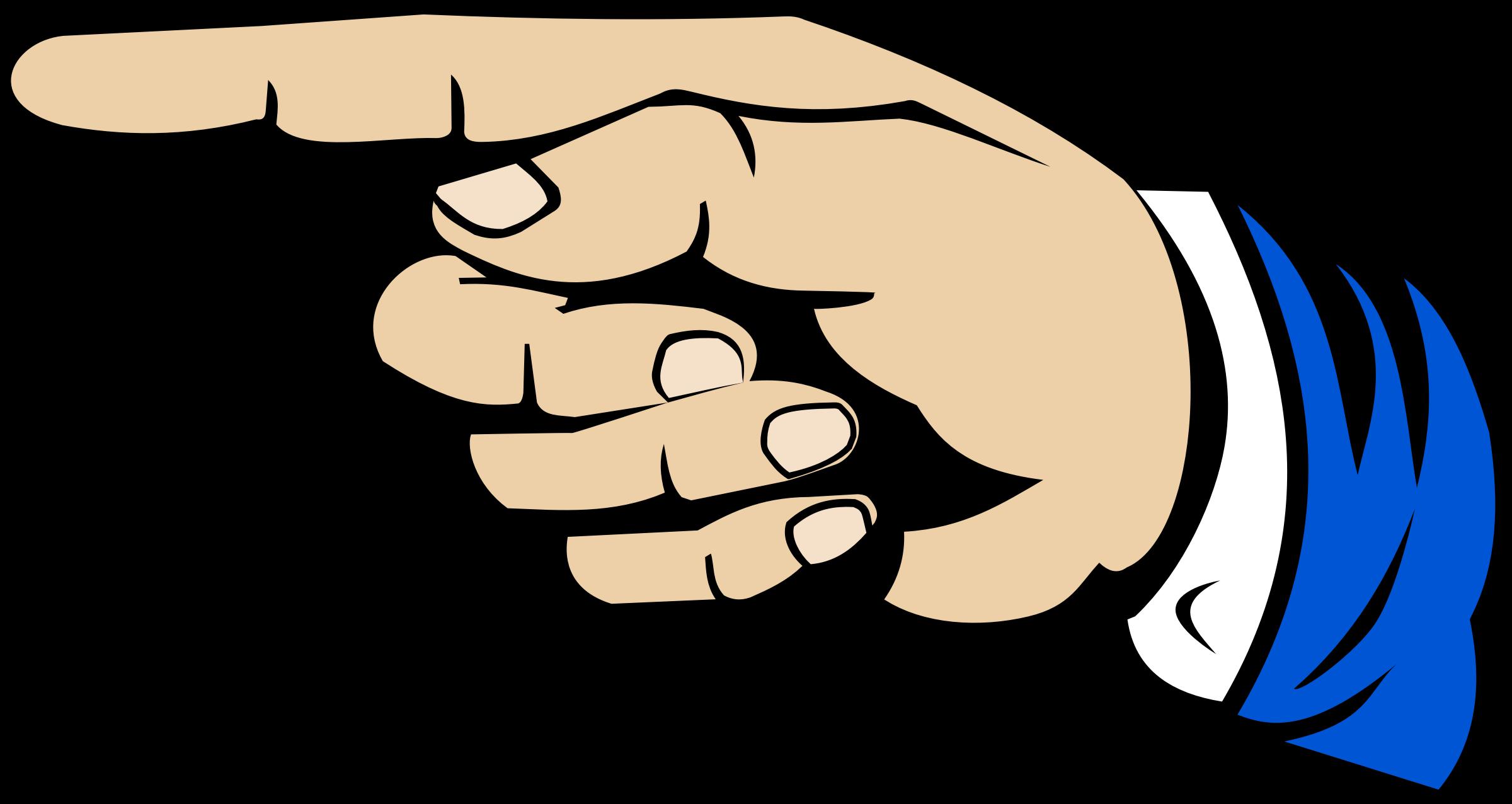 Finger clipart pointed finger, Finger pointed finger.