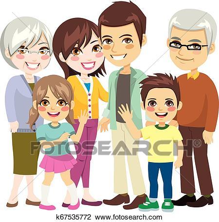 Big Happy Family Clipart.