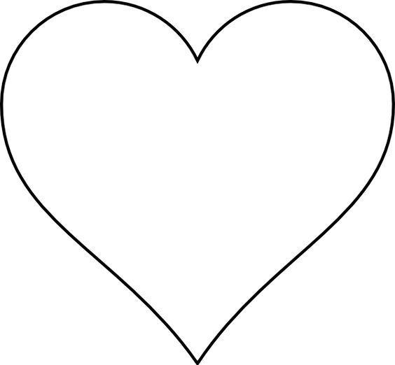 heart template printable.