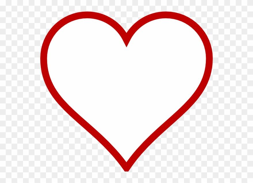 Big Heart Shape Template Clipart (#93535).