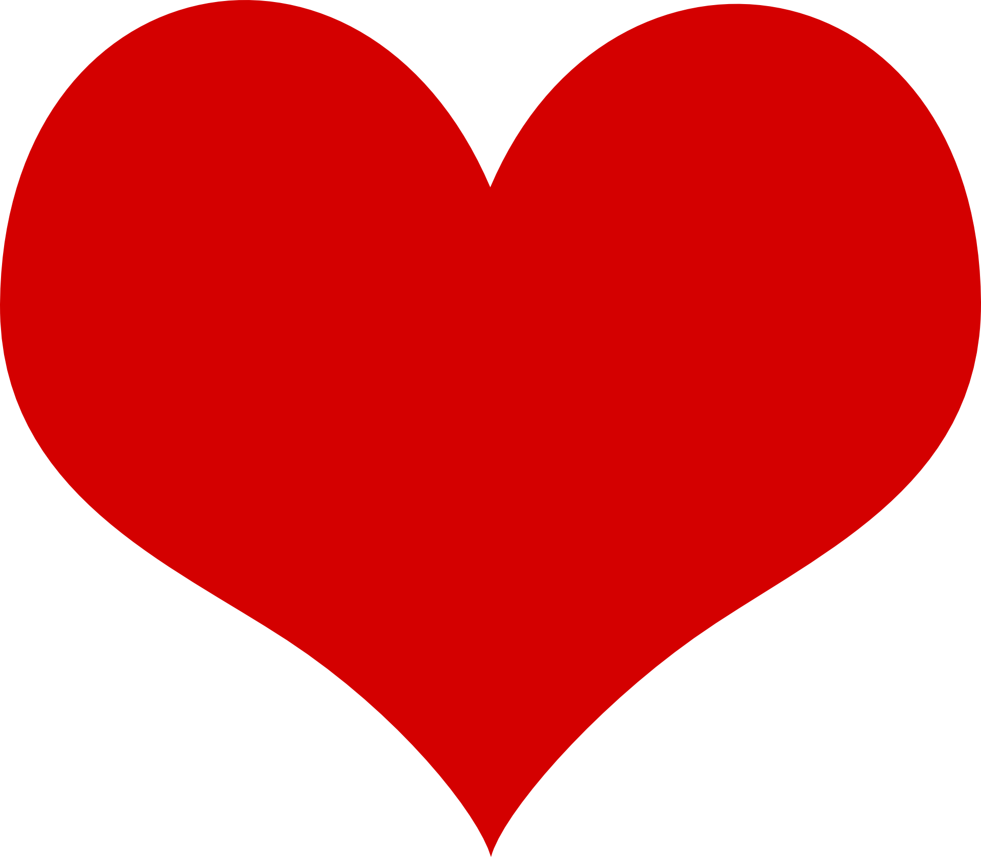 Red big heart clipart free image.