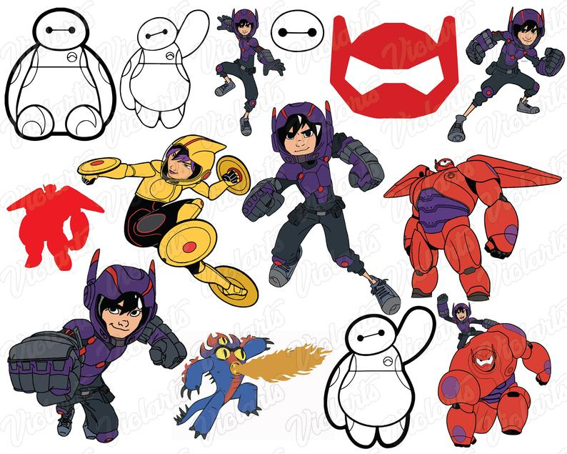 Big Hero 6 Svg, Baymax Cut files: Dxf, Eps & Png clipart, Big Hero 6  characters for Cricut, Silhouette cameo, Baymax Svg, Baymax cutfiles.