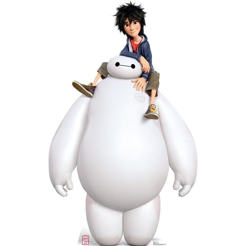 Disney's Big Hero 6 Baymax and Hiro Cardboard Standup.