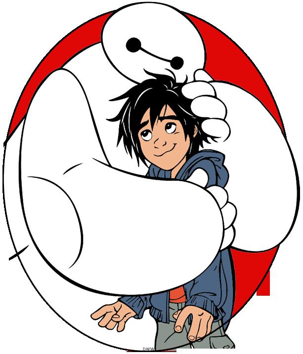 Clip art of Baymax hugging Hiro from Big Hero 6 #bighero6, #baymax.