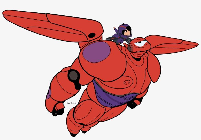 Baymax Hiro Fly Png Clipart.