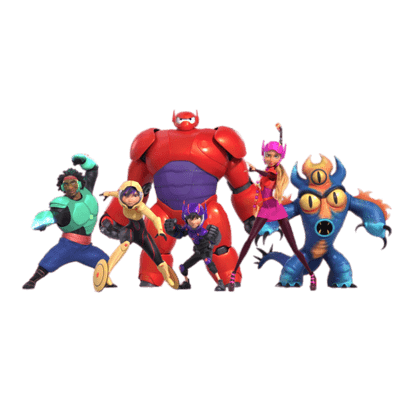 Big Hero 6 transparent PNG images.