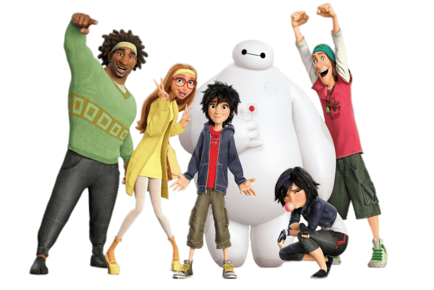Big Hero 6 Characters transparent PNG.