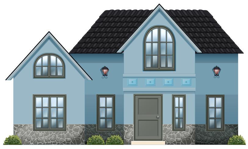 A big blue house.