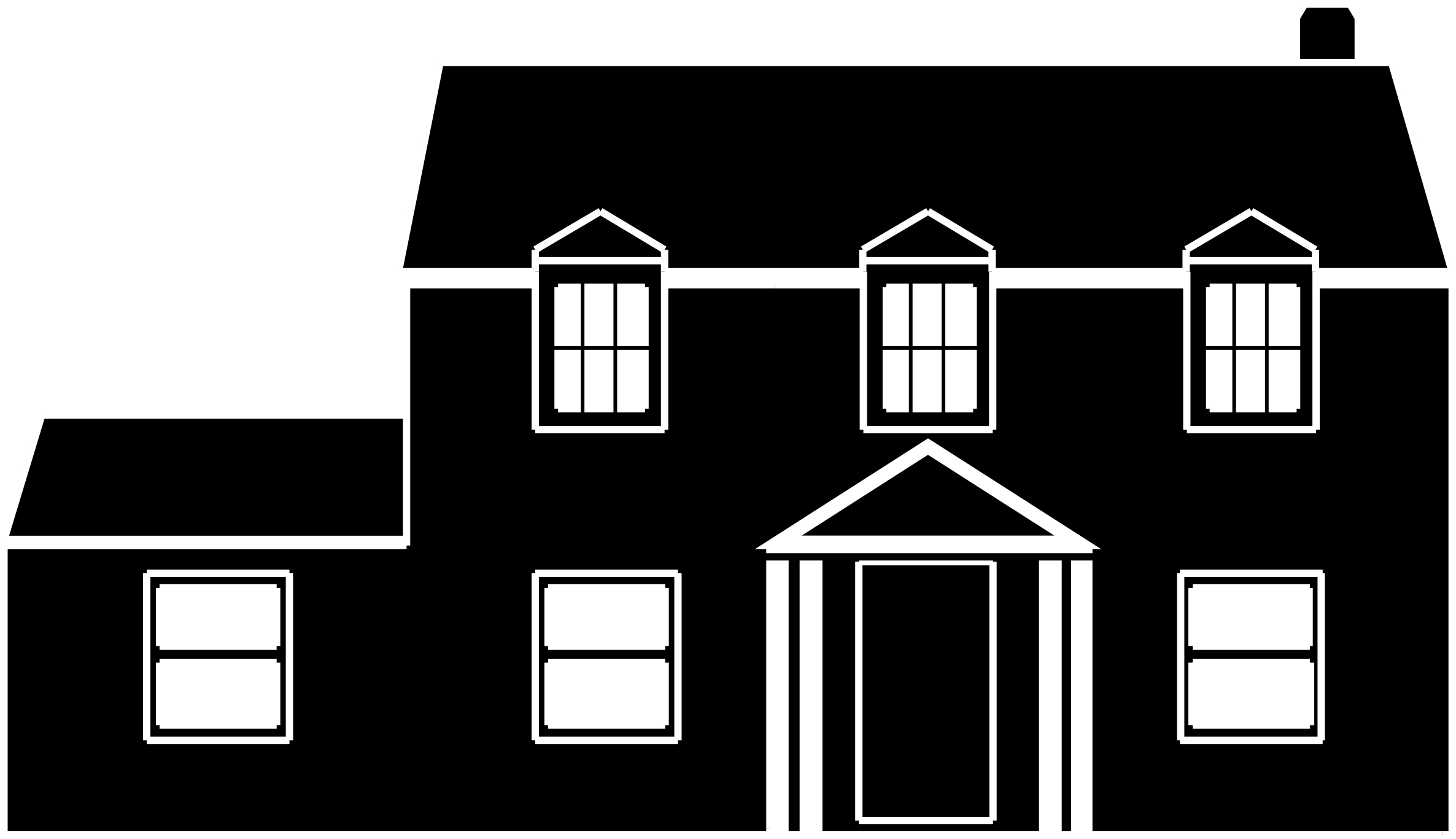 Big House Clipart Black And White.