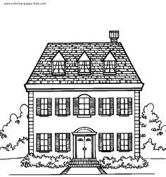 Old House Clipart Black And White.
