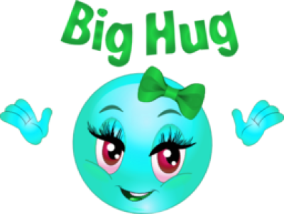 Big Hug Smiley Emoticon Clipart PNG.