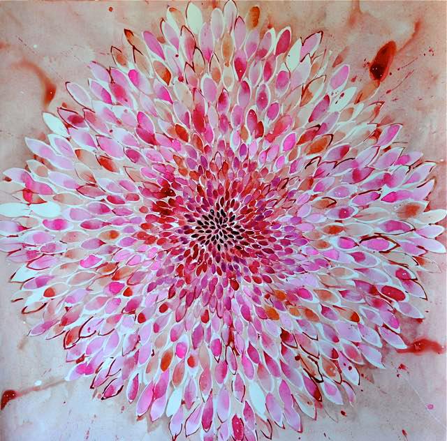 pink big flower.