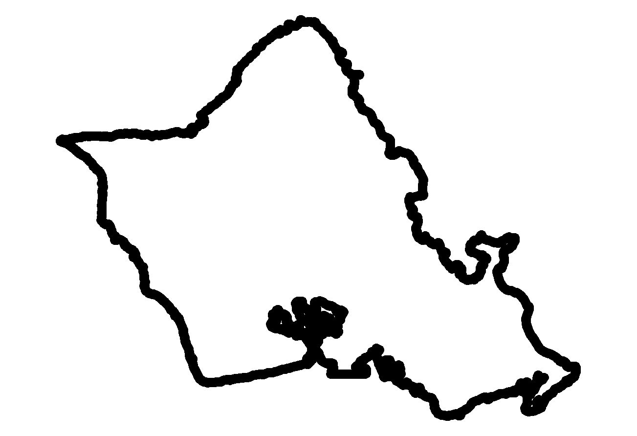 Hawaii map clip art.