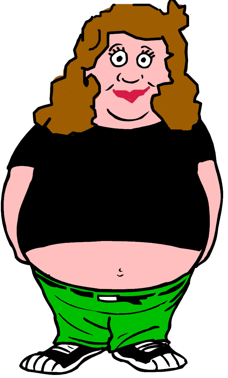 Fat Woman Clipart.
