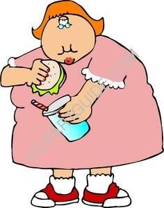 Fat Woman Clipart.