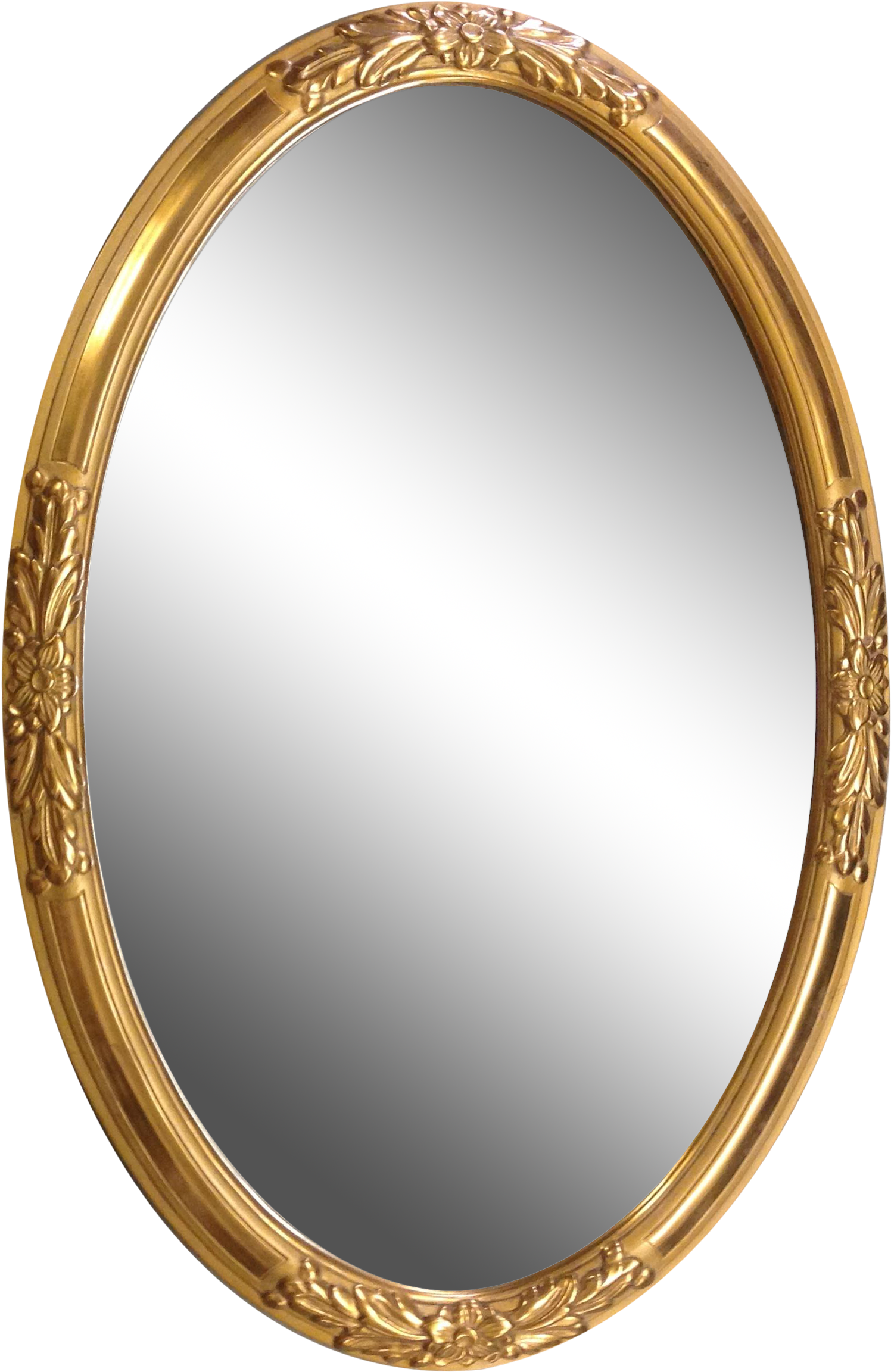 Oval Mirror Frame Png Clipart.